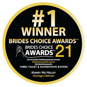Brides Choice Award - Marriage Celebrant 2021